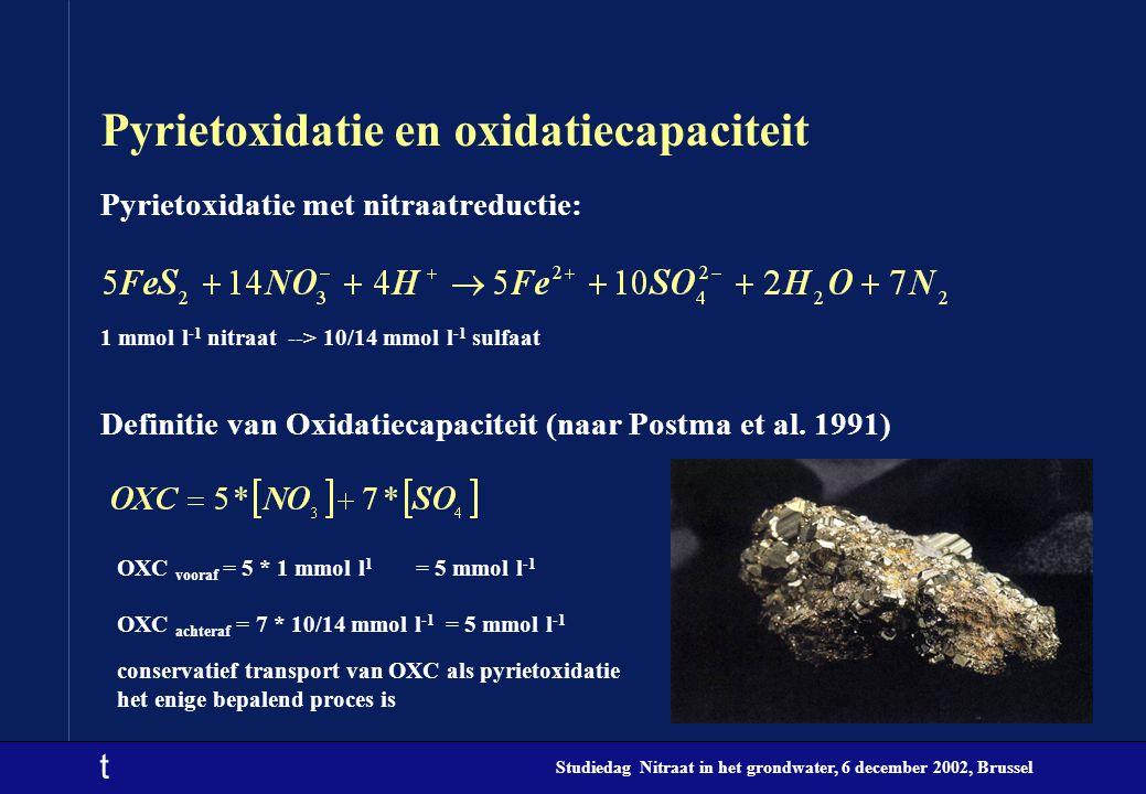 Pyrietoxidatie en oxidatiecapaciteit