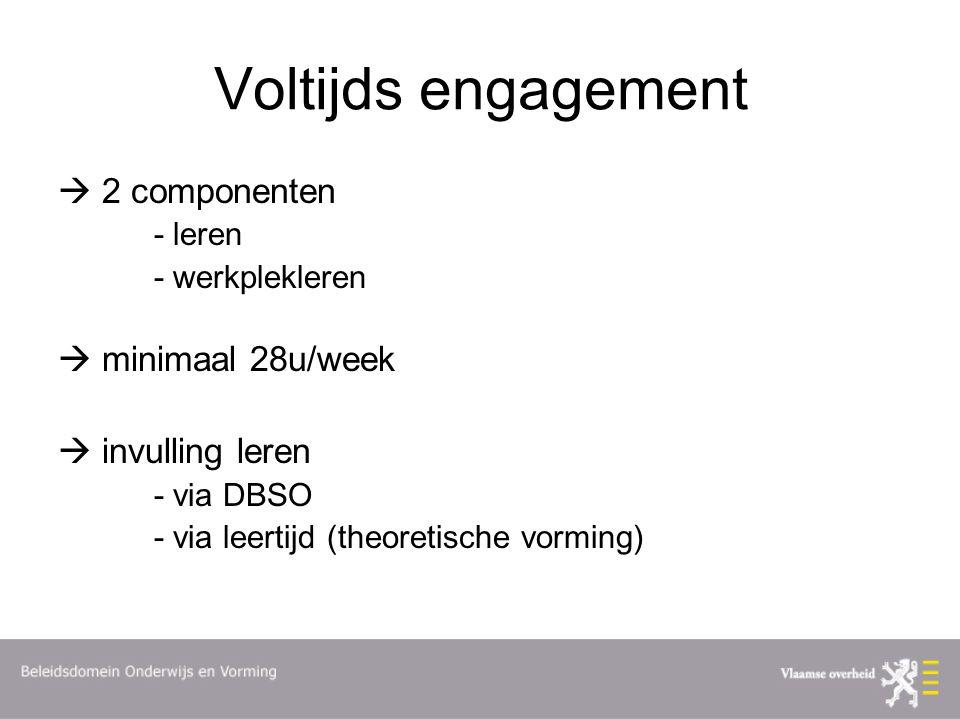 Voltijds engagement  2 componenten  minimaal 28u/week