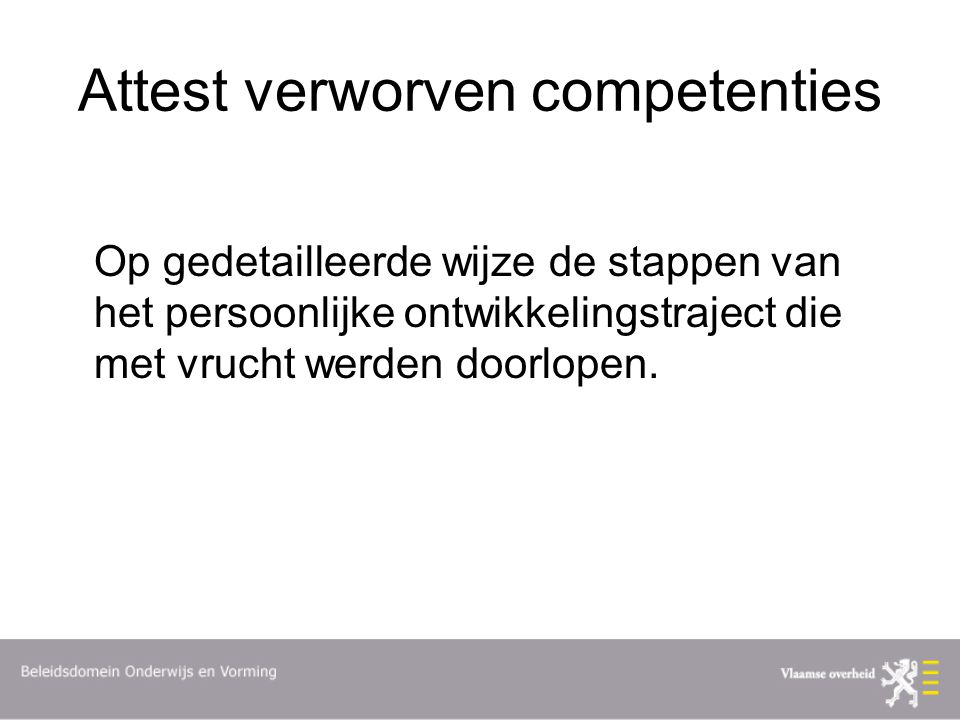 Attest verworven competenties