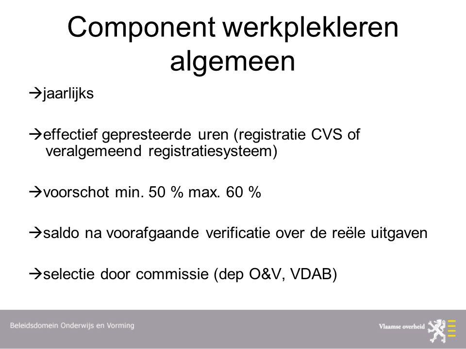 Component werkplekleren algemeen