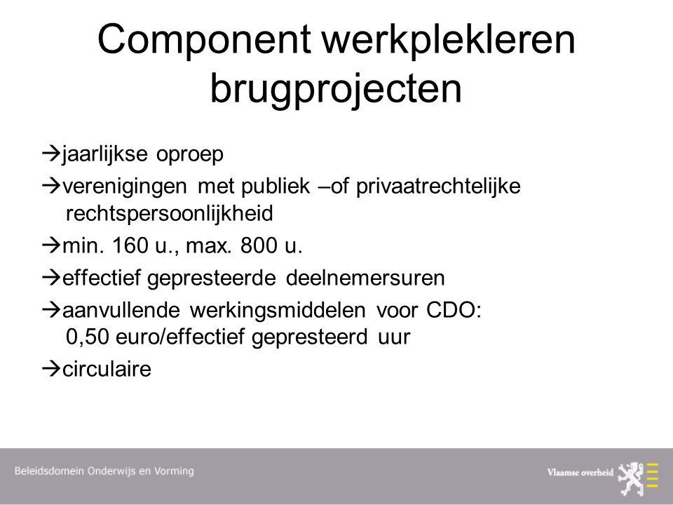 Component werkplekleren brugprojecten