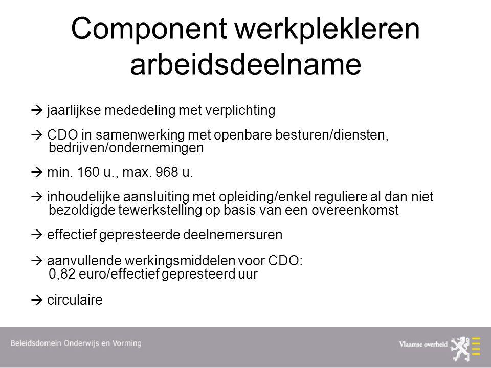 Component werkplekleren arbeidsdeelname