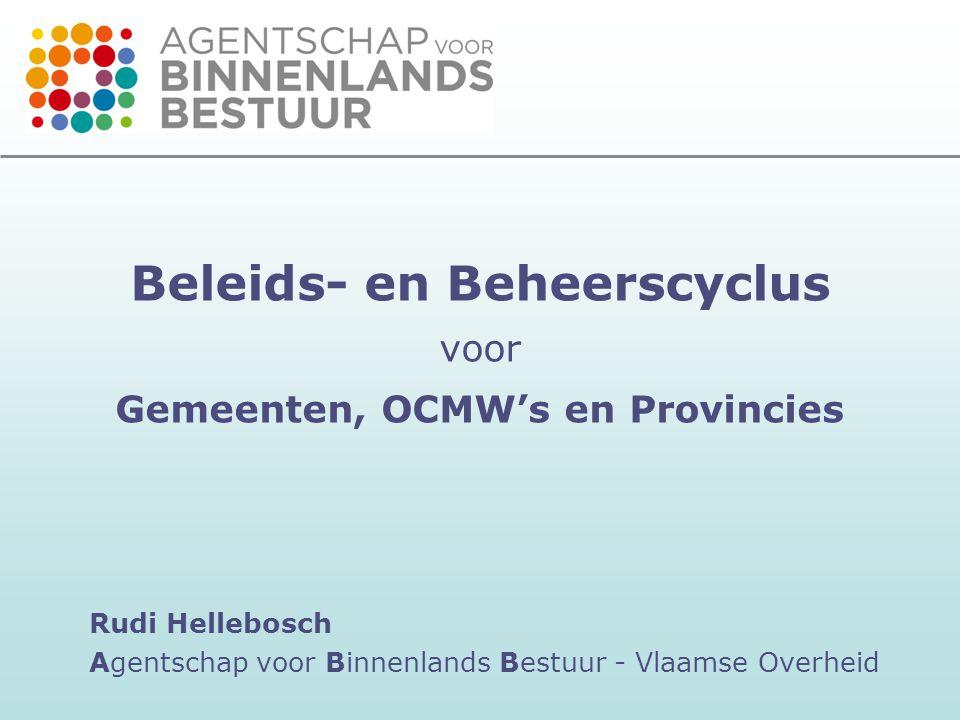 Beleids- en Beheerscyclus voor Gemeenten, OCMW's en Provincies
