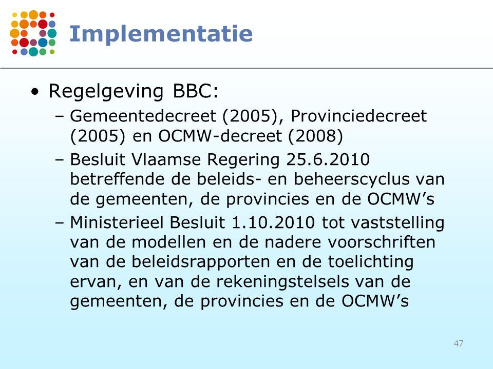Implementatie Regelgeving BBC: