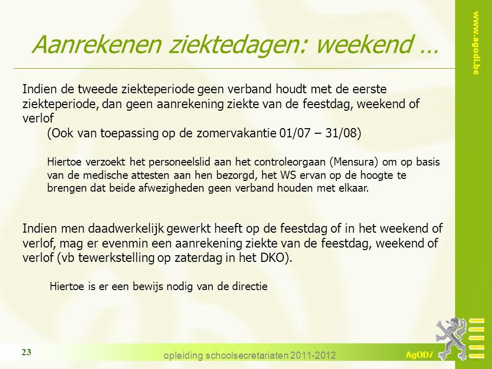 Aanrekenen ziektedagen: weekend …
