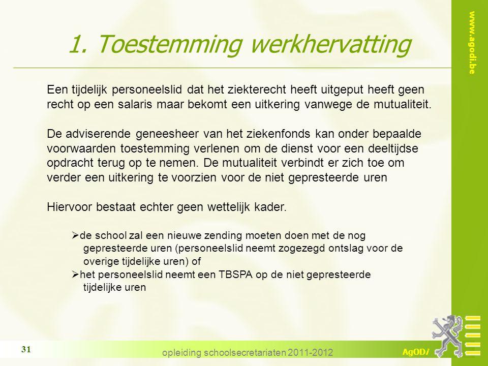 1. Toestemming werkhervatting