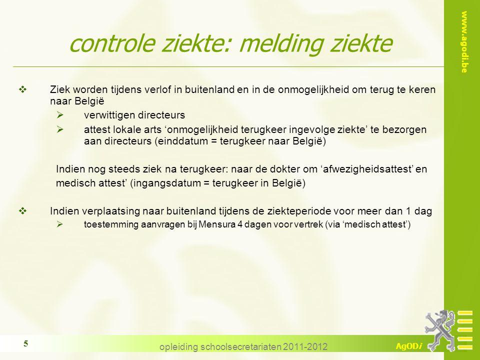 controle ziekte: melding ziekte