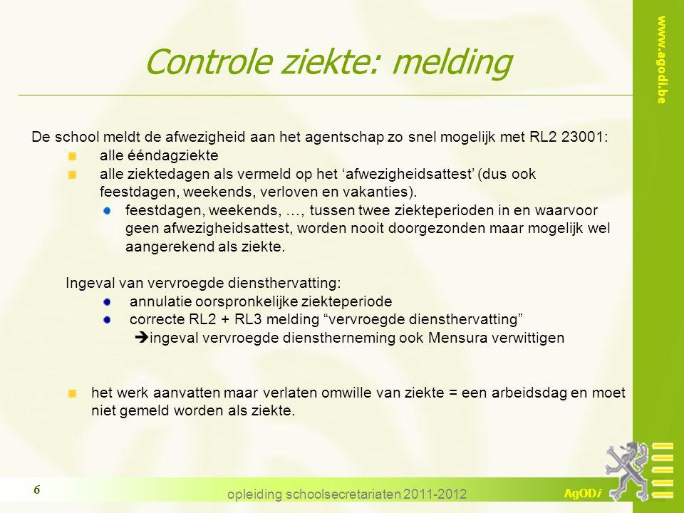 Controle ziekte: melding