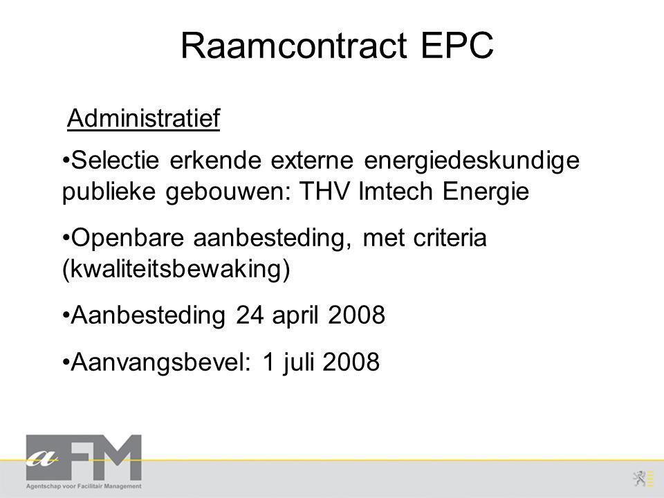 Raamcontract EPC Administratief