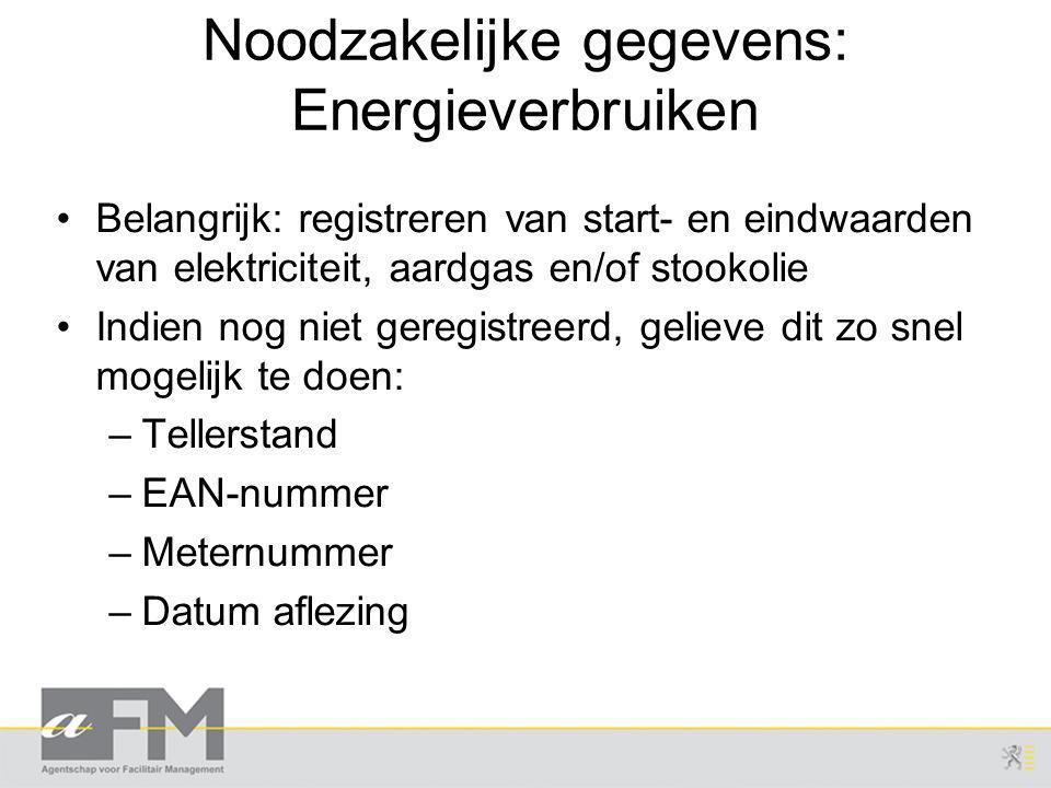 Noodzakelijke gegevens: Energieverbruiken