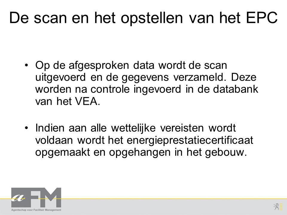 De scan en het opstellen van het EPC