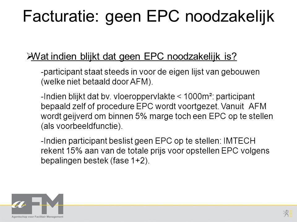 Facturatie: geen EPC noodzakelijk
