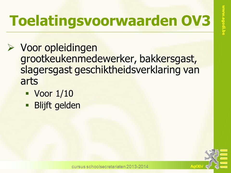 Toelatingsvoorwaarden OV3