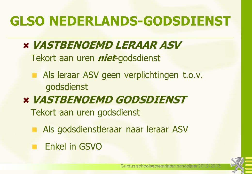 GLSO NEDERLANDS-GODSDIENST