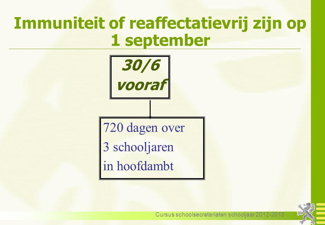 Immuniteit of reaffectatievrij zijn op 1 september