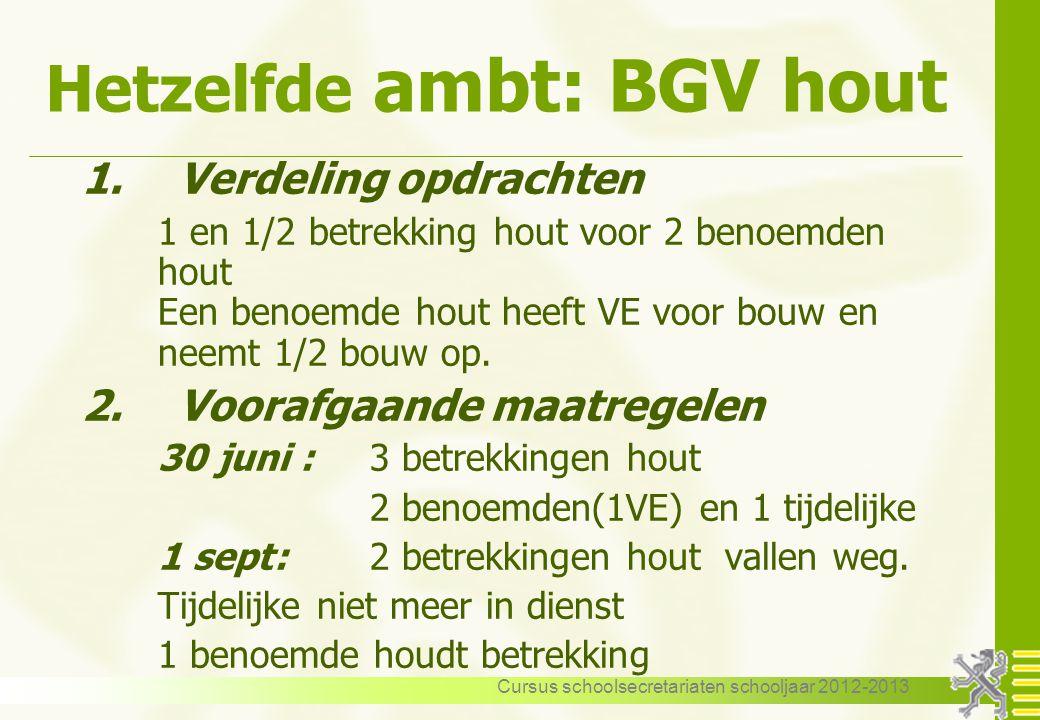 Hetzelfde ambt: BGV hout