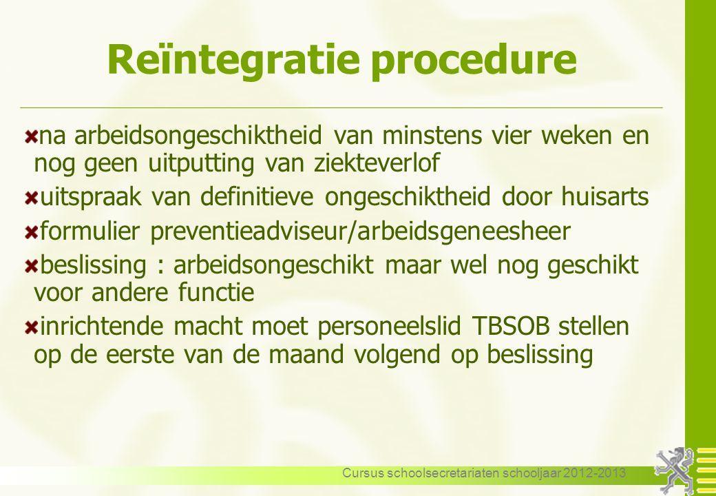 Reïntegratie procedure