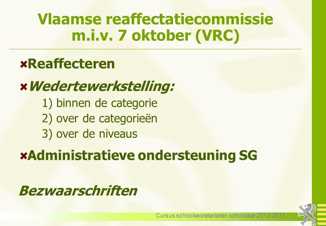 Vlaamse reaffectatiecommissie m.i.v. 7 oktober (VRC)