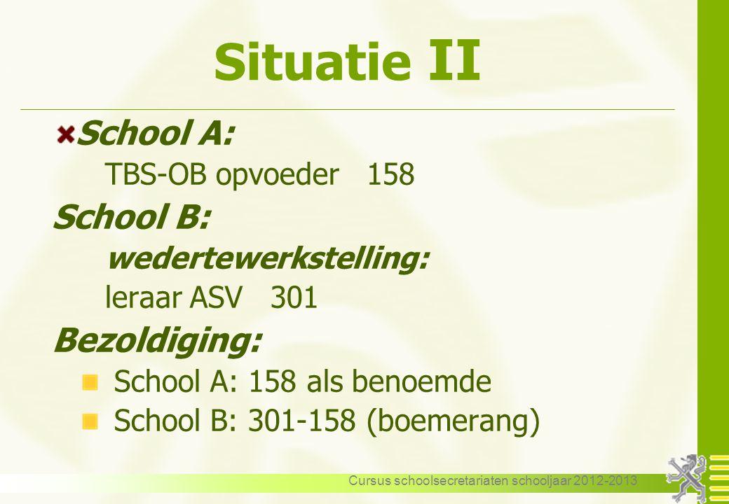 Cursus schoolsecretariaten schooljaar 2012-2013