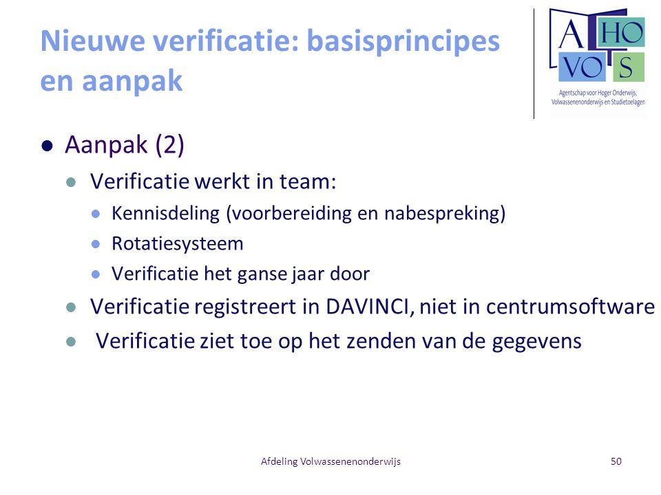 Nieuwe verificatie: basisprincipes en aanpak