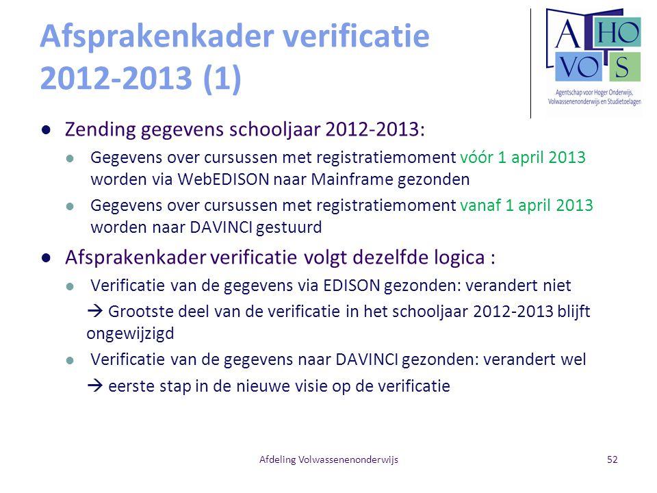 Afsprakenkader verificatie 2012-2013 (1)