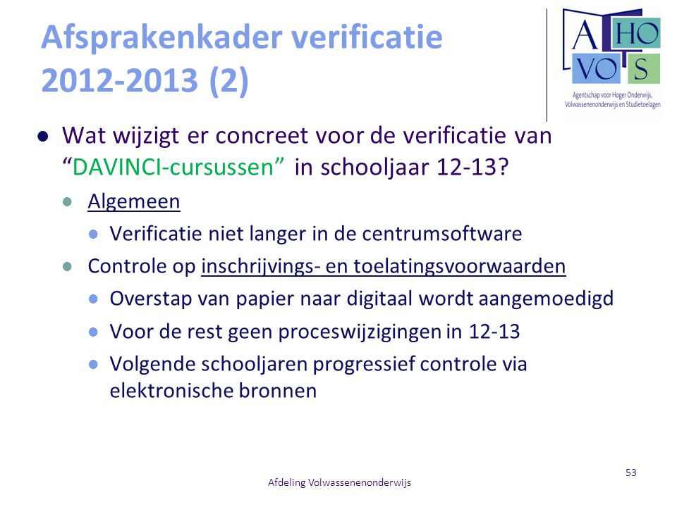Afsprakenkader verificatie 2012-2013 (2)