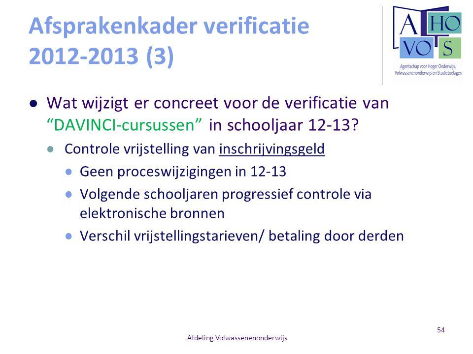 Afsprakenkader verificatie 2012-2013 (3)