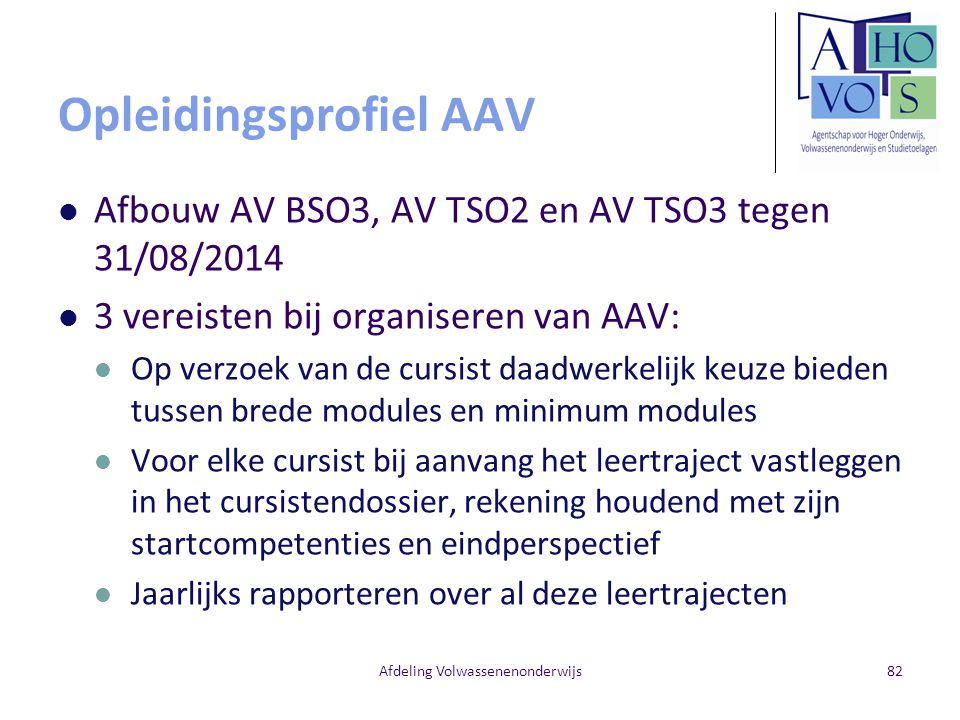 Opleidingsprofiel AAV