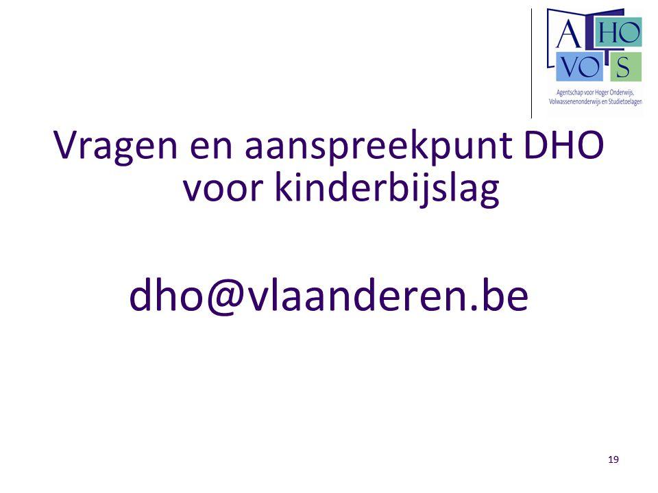 Vragen en aanspreekpunt DHO voor kinderbijslag