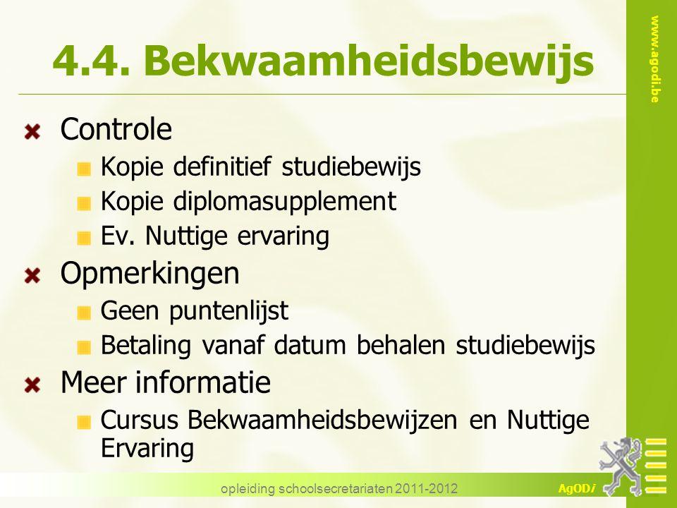 opleiding schoolsecretariaten 2011-2012
