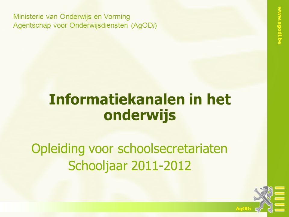 Informatiekanalen in het onderwijs