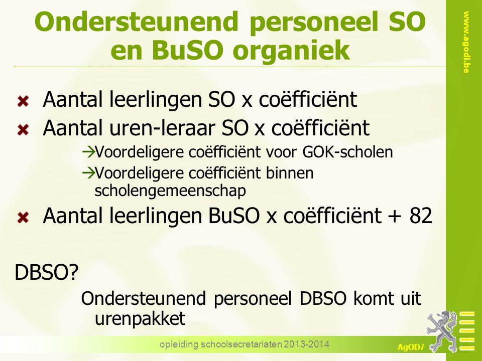 Ondersteunend personeel SO en BuSO organiek