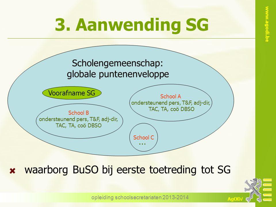 3. Aanwending SG waarborg BuSO bij eerste toetreding tot SG