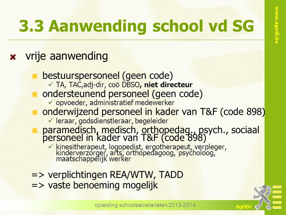 3.3 Aanwending school vd SG