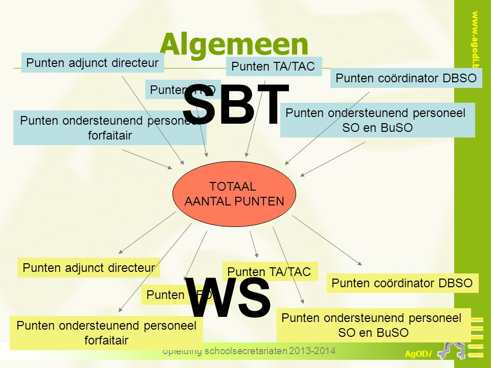 SBT WS Algemeen Punten adjunct directeur Punten TA/TAC