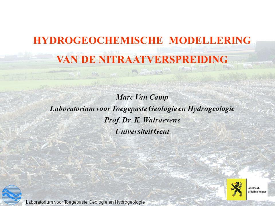 HYDROGEOCHEMISCHE MODELLERING VAN DE NITRAATVERSPREIDING