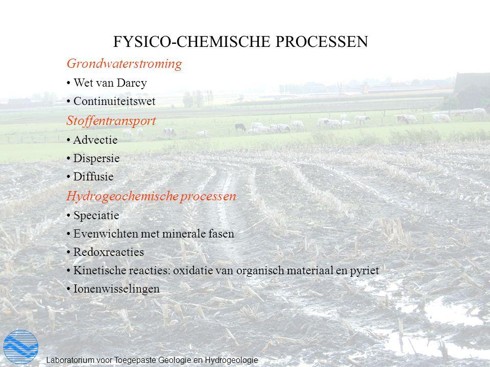 FYSICO-CHEMISCHE PROCESSEN