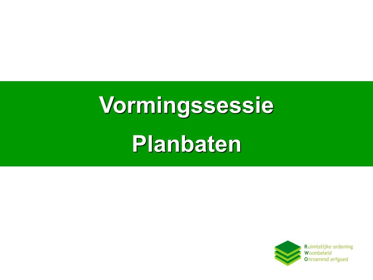 Vormingssessie Planbaten