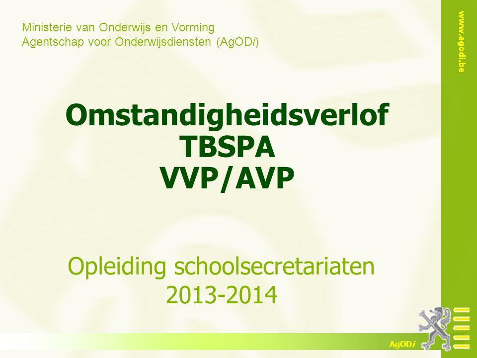 Omstandigheidsverlof TBSPA VVP/AVP