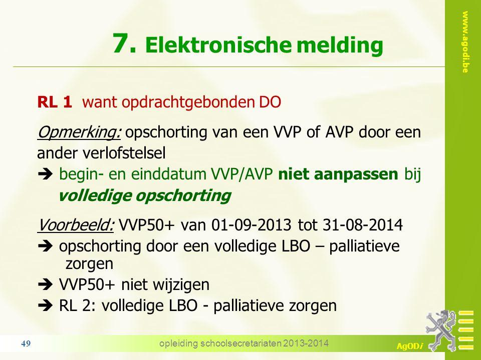 7. Elektronische melding