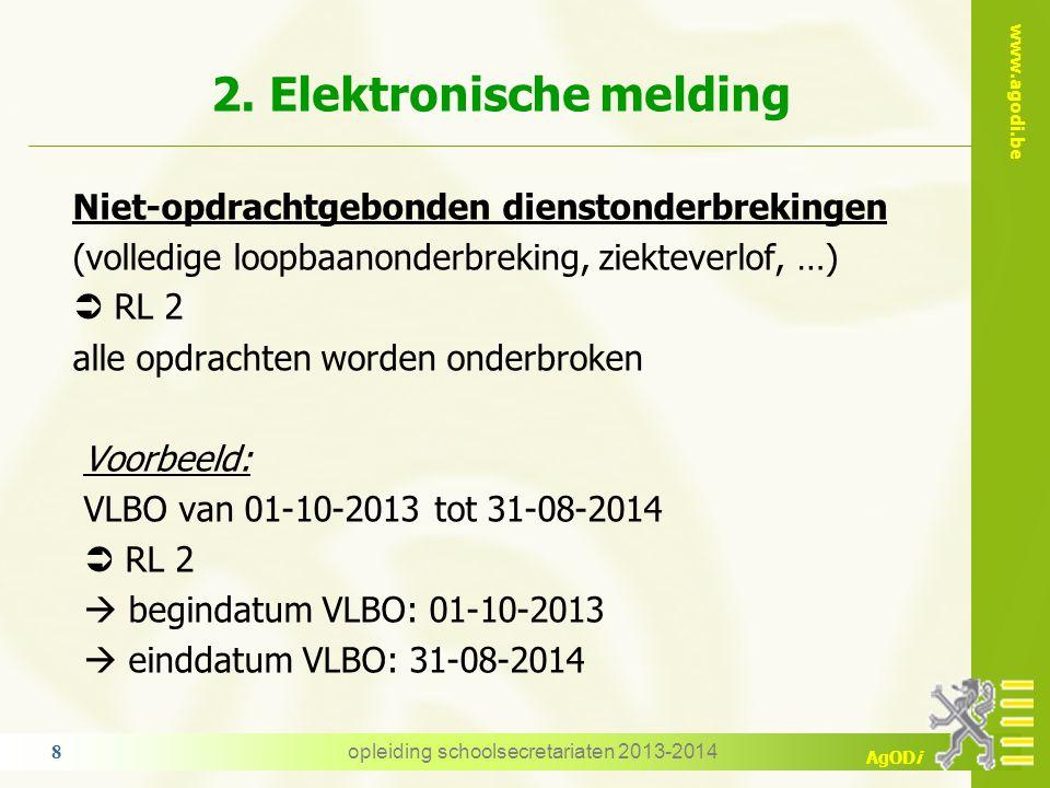 2. Elektronische melding
