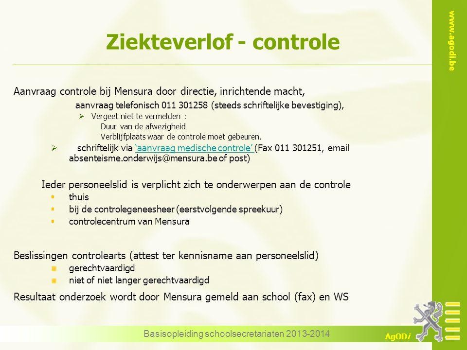 Ziekteverlof - controle