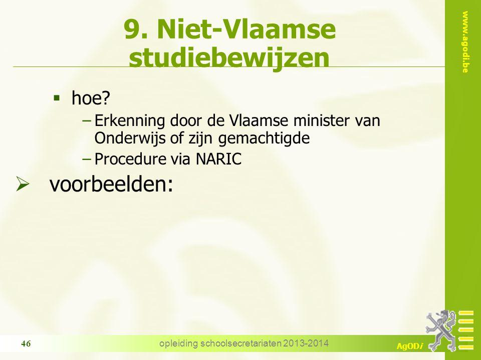 9. Niet-Vlaamse studiebewijzen