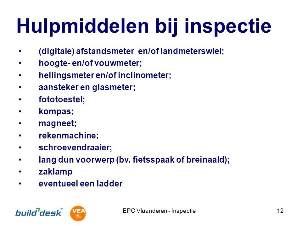 Hulpmiddelen bij inspectie