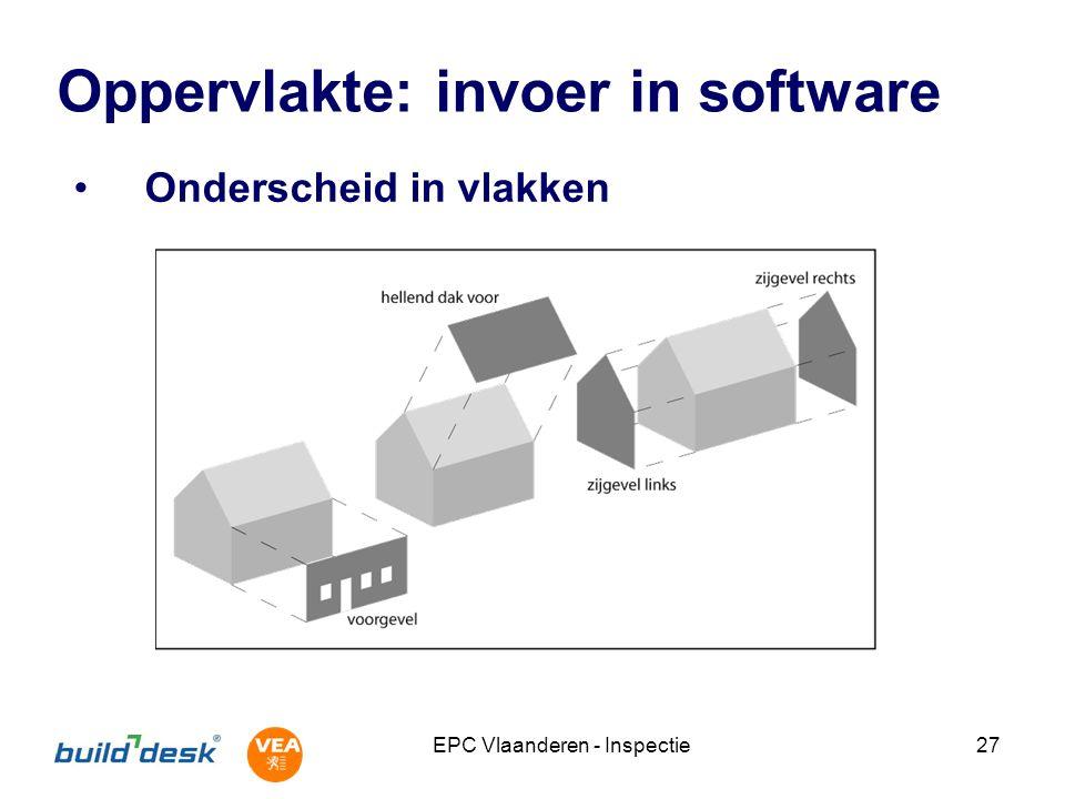 Oppervlakte: invoer in software