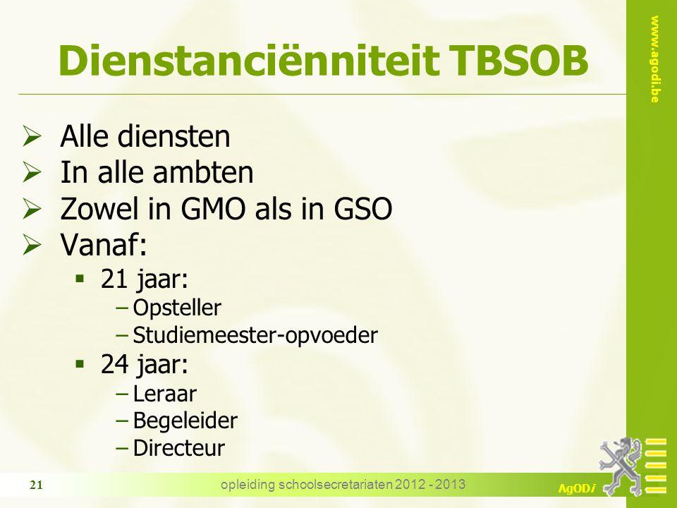 Dienstanciënniteit TBSOB
