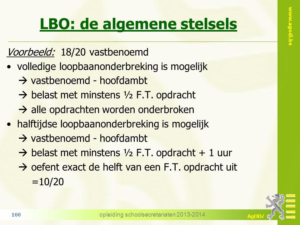 LBO: de algemene stelsels