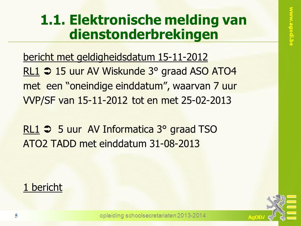 1.1. Elektronische melding van dienstonderbrekingen