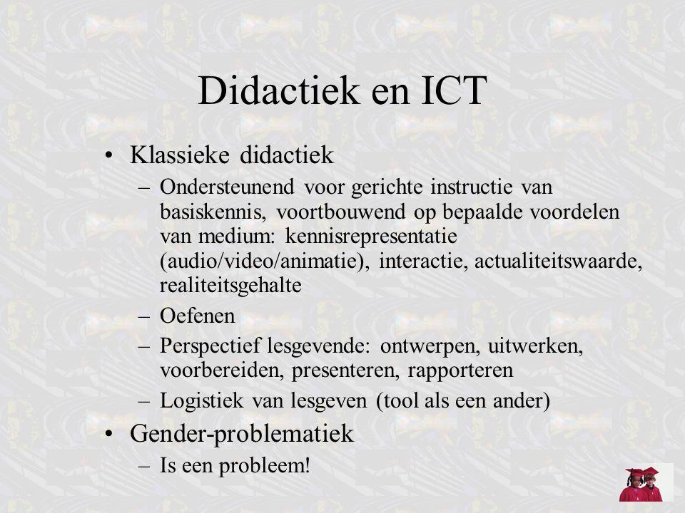 Didactiek en ICT Klassieke didactiek Gender-problematiek