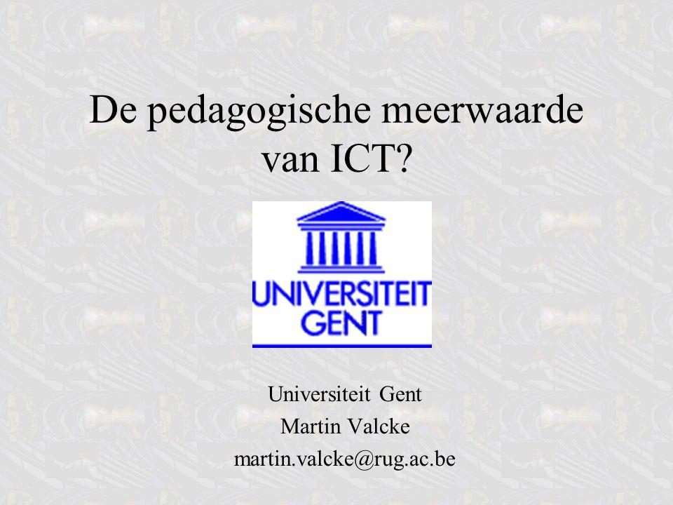De pedagogische meerwaarde van ICT
